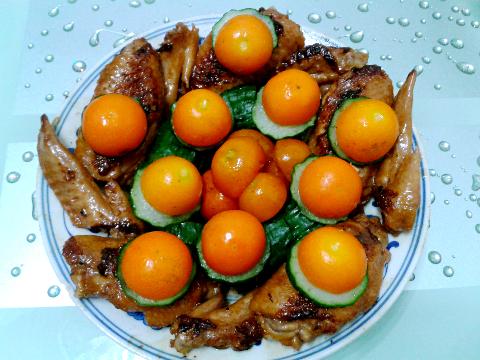健康美食:金桔鸡翅