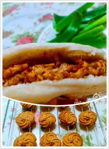 榛子曲奇饼和肉夹馍
